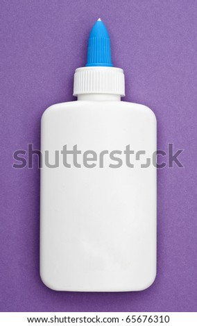Bottle of White Glue Creativity and The Arts Concept Image. - stock photo