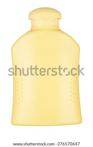 Bottle with suntan cream isolated on white. With clipping path - stock photo