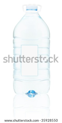 Bottle with water 4 - stock photo