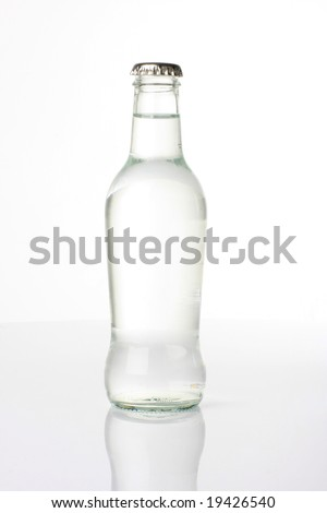 Bottled water shot in studio, isolated on white - stock photo
