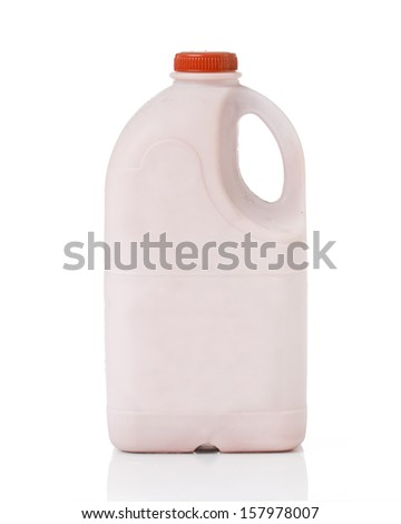 Bottles of Milk chocolate  on Isolated White Background. - stock photo