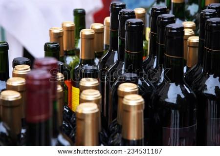 Bottles of Wine - stock photo