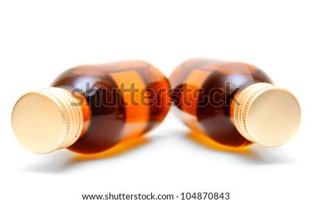 Bottles. On a white background. - stock photo