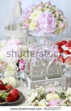 Bottles with lemonade - stock photo