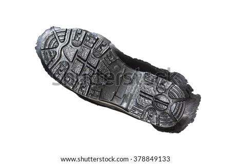 Bottom of shoes, isolated on white background - stock photo