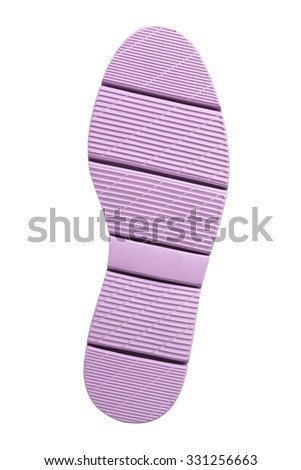 Bottom of sport shoe isolated on white background - stock photo