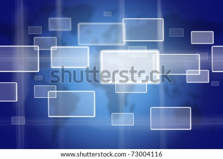 Bottoms on world map, virtual concept of choice - stock photo