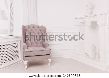 Boudoir. Luxurious interior in the vintage style
