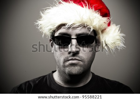 Bouncer at Christmas - stock photo