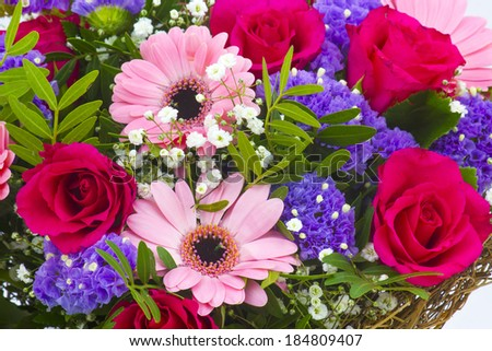 bouquet of colourful flowers - stock photo