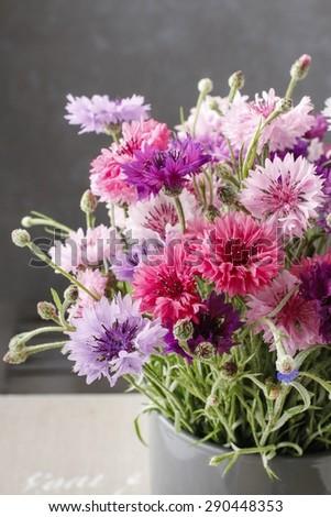 Bouquet of cornflowers - stock photo