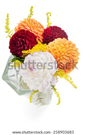 Bouquet of dahlias - stock photo