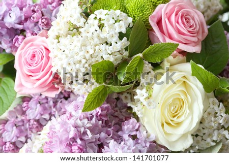 bouquet of flowers. - stock photo