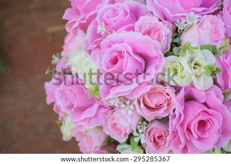 Bouquet of Flowers in a Vase - stock photo