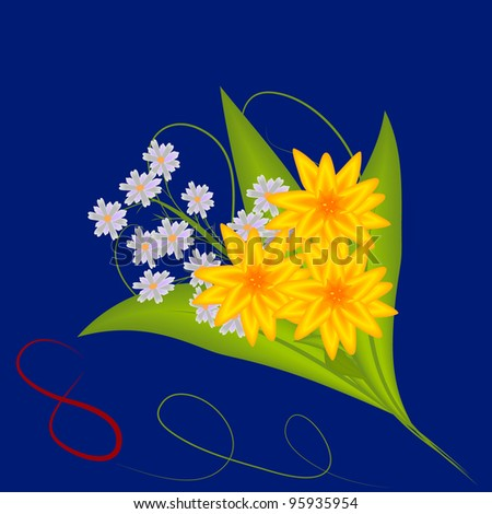 bouquet of flowers on March 8 - stock photo