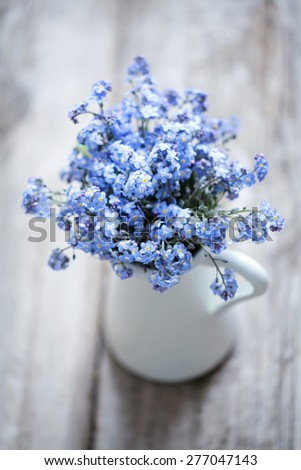Bouquet of forget-me-nots - stock photo
