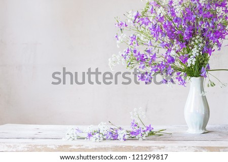 bouquet on white background - stock photo