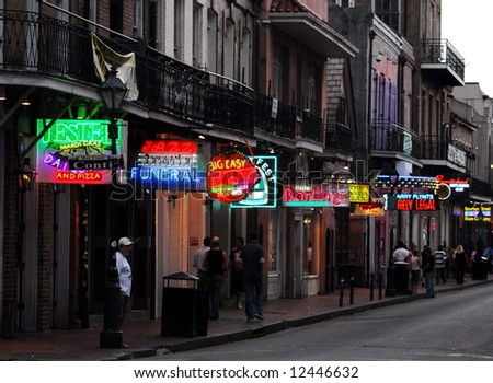 Bourbon Street - stock photo