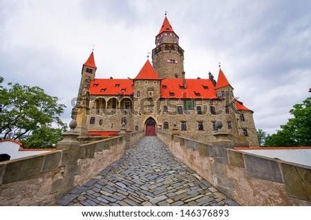 Bouzov castle in Czech Republic - stock photo