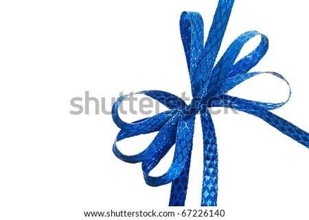 bow isolated on white background - stock photo