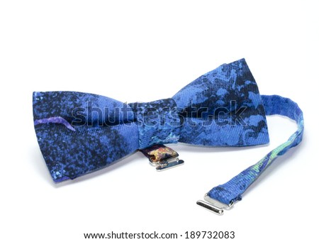 bow tie on isolated on white background - stock photo