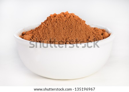 Bowl full of Cocoa Powder - stock photo