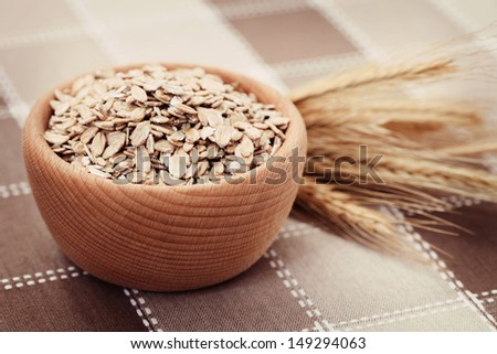 bowl full of oats - food and drink  - stock photo