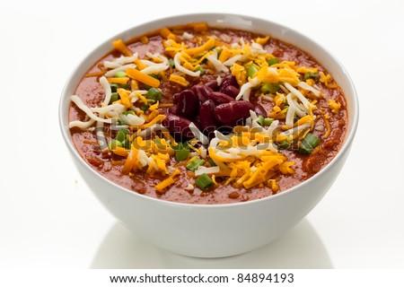 Bowl of Chili 3 - stock photo