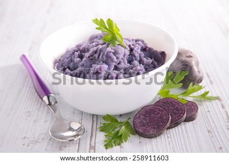 bowl of mashed potato - stock photo