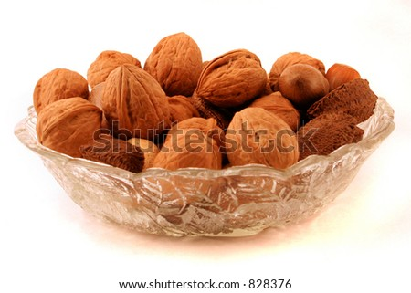Bowl of Nuts - stock photo