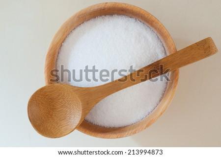 bowl of salt - stock photo
