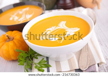 bowl of soup - stock photo