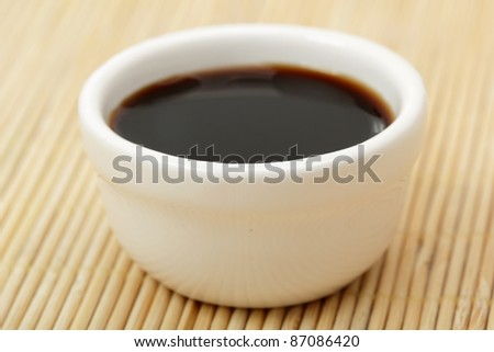 Bowl of Soy Sauce - stock photo