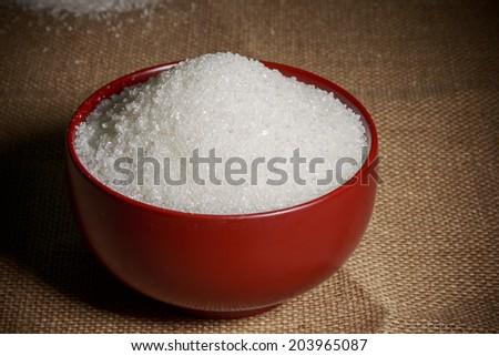 Bowl of sugar - stock photo
