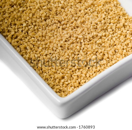 Bowl with soybean extract - stock photo