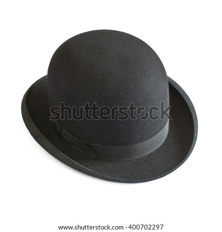 Bowler hat on white - stock photo