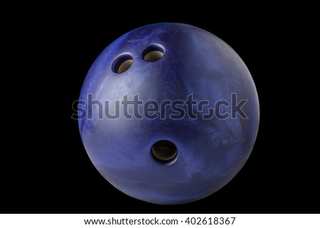 bowling ball isolated on black background - stock photo
