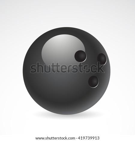 Bowling icon isolated on white background. - stock photo