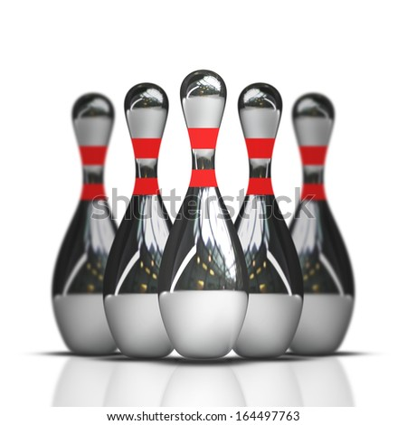 bowling isolated on white background High resolution 3d  - stock photo