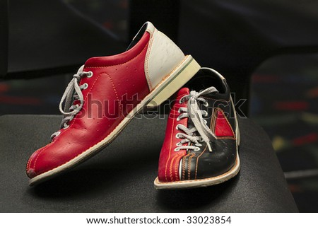 Bowling shoes. - stock photo