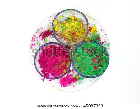 Bowls with vivid colours - stock photo