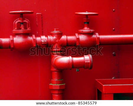 Box car valves - stock photo