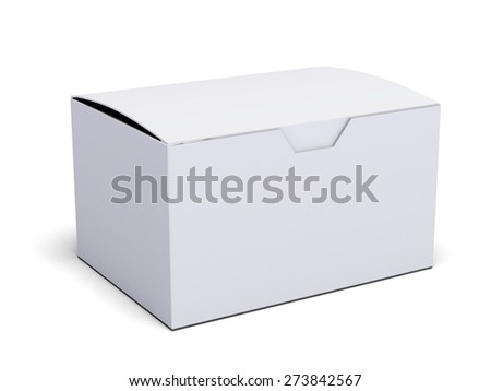 Box. 3D. Blank product box isolated over a white background - stock photo