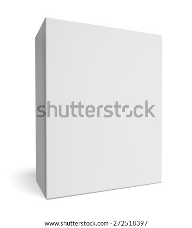 Box. 3D. Blank retail product package - stock photo