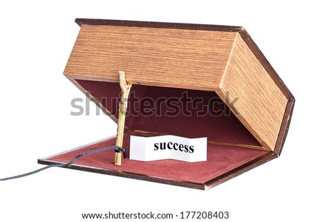 box is installed in the form of the trap. deceptive pleasure - stock photo