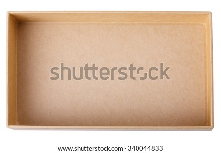 box Isolated on white background Clipping Path - stock photo