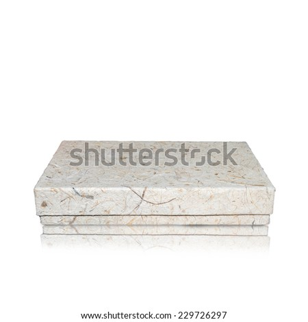 box made from natural fibers isolated. - stock photo