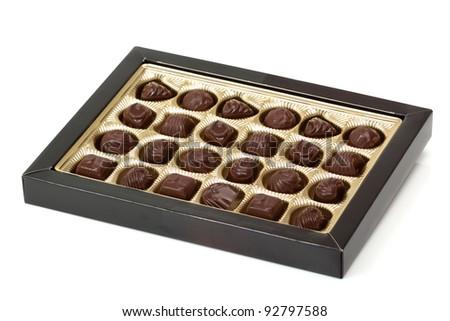 Box of Filled Chocolates - stock photo