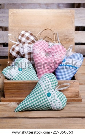 Box of hearts - stock photo