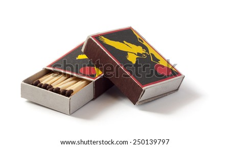 box of matches - stock photo